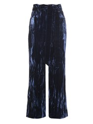 Wales Bonner Prosper Crushed Velvet Flared Trousers