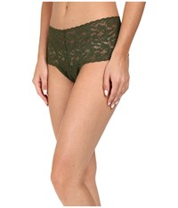 Hanky Panky Signature Lace Retro Thong Woodland Green Women's Underwear
