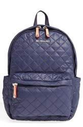 M Z Wallace Mz 'Small Metro' Quilted Oxford Nylon Backpack Blue Dawn Oxford