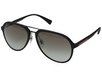 Prada Linea Rossa 0Ps 05Rs Black Rubber Grey Gradient Fashion Sunglasses