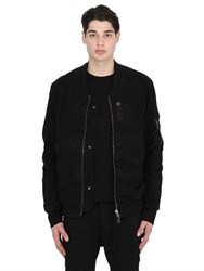 11 By Boris Bidjan Saberi Reversible Cotton Canvas Bomber Jacket