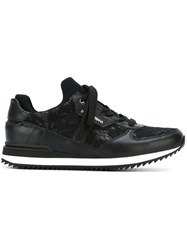 Dolce And Gabbana Lace Panel Sneakers Black