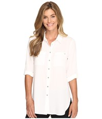 Calvin Klein Roll Sleeve Tunic Soft White Women's Clothing