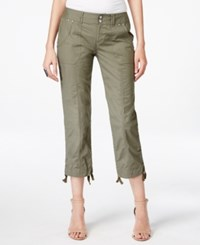 Inc International Concepts Cropped Cargo Pants Only At Macy's Olive Drab