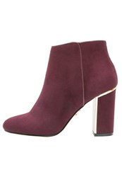 Lipsy High Heeled Ankle Boots Merlot Dark Red