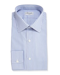 Charvet Striped Dress Shirt Purple Lavender