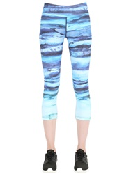 Prana Printed Microfiber Leggings Teal