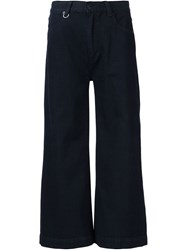 Neuw Wide Leg Cropped Jeans Black
