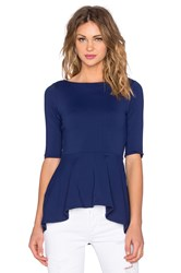 Susana Monaco Low Back Flare Top Navy