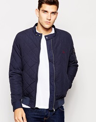 Jack Wills Quilted Bomber In Navy