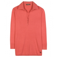 Loro Piana Polo Ventotene Cotton And Silk Blend Top