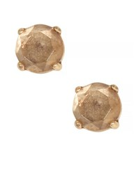 Lucky Brand Goldtone Rock Crystal Stud Earrings