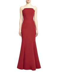 Jill Stuart Strapless Mermaid Hem Gown Redwood
