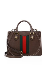 Gucci Animalier Leather Top Handle Bag Brown