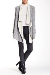 Zoa Long Sleeve Cascade Cardigan Gray