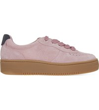 Sandro Camille Suede Flatform Trainers Rose