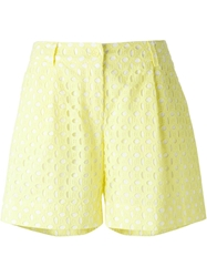 P.A.R.O.S.H. 'Cosangil' Crochet Shorts Yellow And Orange