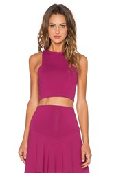 Donna Mizani Frontal Panel Crop Top Wine