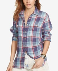 Denim And Supply Ralph Lauren Plaid Utility Shirt Plaid Multi