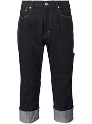 Junya Watanabe Comme Des Garcons Man Cropped Jeans Blue