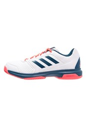 Adidas Performance Adizero Attack Outdoor Tennis Shoes White Tech Steel Flash Red