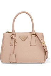 Prada Galleria Small Textured Leather Tote Beige