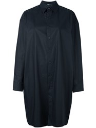 Y 3 Oversized Button Down Shirt Black