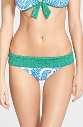 Tommy Bahama 'Bandana Paisley' Hipster Bikini Bottoms Sailor Blue Palm Green