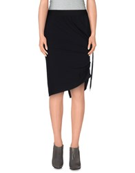High Skirts Knee Length Skirts Women Black