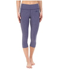 The North Face Motivation Crop Leggings Patriot Blue Heather Women's Casual Pants Gray
