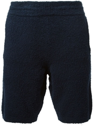 Maison Martin Margiela Loop Knit Shorts Blue