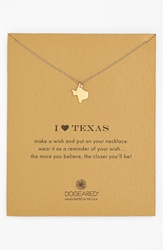 Dogeared 'Reminder I Heart Texas' Boxed Pendant Necklace Texas Gold Dipped