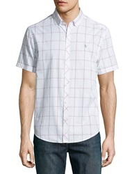 Penguin Classic Fit Check Sport Shirt White