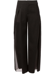 Undercover Sheer Panel Trousers Black