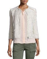 Joie Miriah Basketweave Double Face Jacket Size X Small Natural