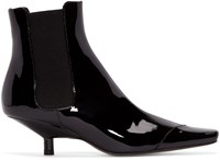 Loewe Black Patent Leather Chelsea Boots