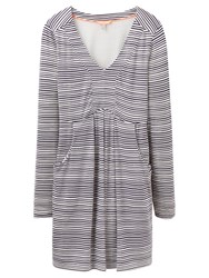 Joules Lizzie Jersey Tunic Top Navy Wave Stripe