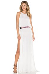 Indah Twiga Open Side Maxi Dress Cream