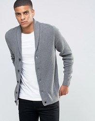 Selected Homme Shawl Collar Cardigan Grey