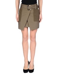 Hotel Particulier Skirts Mini Skirts Women Military Green