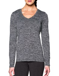 Under Armour Plunging V Neck Moisture Transport Tee Black