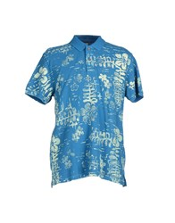 Replay Topwear Polo Shirts Men Azure