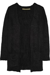 Enza Costa Boucle Knit Cardigan Black