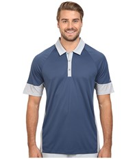Adidas Climachill Print Block Polo Mineral Blue Men's Clothing