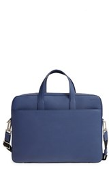 Jack Spade Men's 'Barrow' Leather Briefcase Blue Admiral Blue
