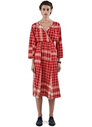 Lana Siberie Queen To Peasant Checked Dress Red