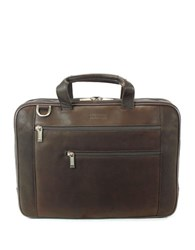 Kenneth Cole Reaction Leather Laptop Bag Brown
