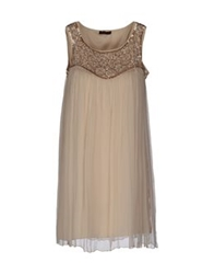 Angelina Short Dresses Beige