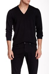 Ben Sherman Merino Wool V Neck Sweater Black