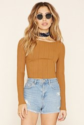 Forever 21 Ribbed Y Back Crop Top